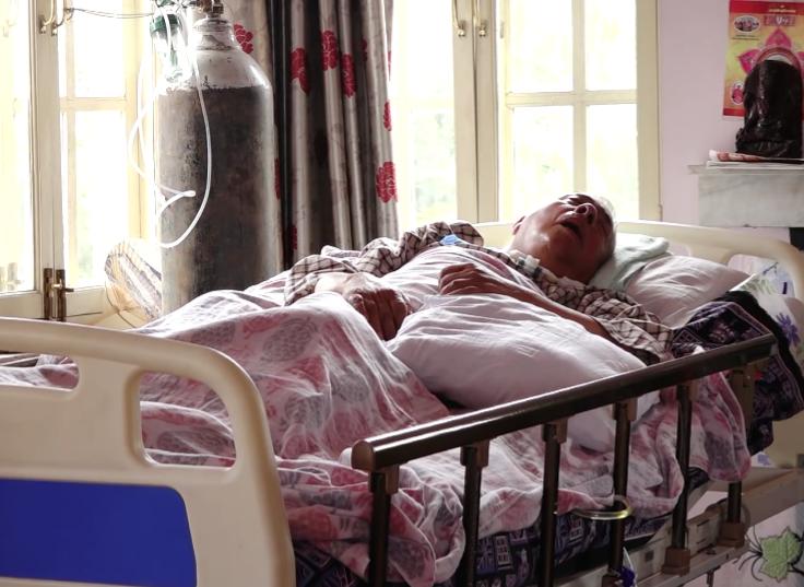 NC leader Bastola at his home in Khumaltar, Lalitpur. Photo: YouTube