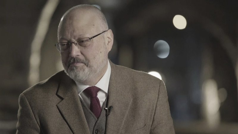 In this image made from a March 2018 video provided by Metafora Production, Jamal Khashoggi speaks during an interview at an undisclosed location. Photo: AP