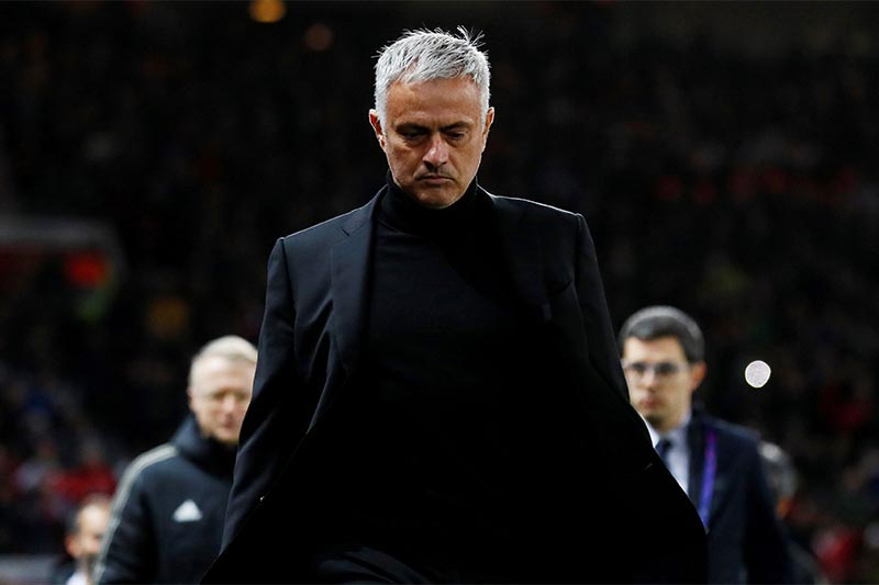 Manchester United manager Jose Mourinho before the group stage football match of Champions League between Manchester United and Juventus, at Old Trafford, Manchester, Britain, on October 23, 2018. Photo: Reuters