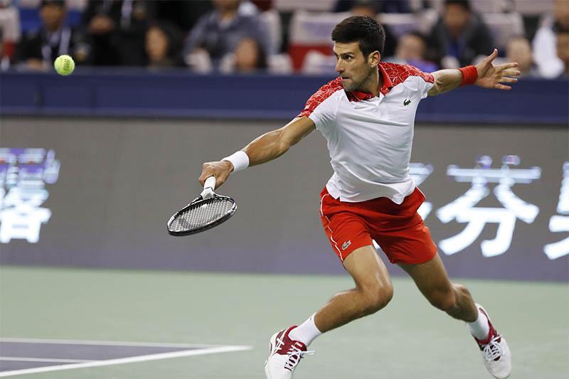 Novak Djokovic of Serbia in action against Borna Coric of Croatia. Photo: Reuters
