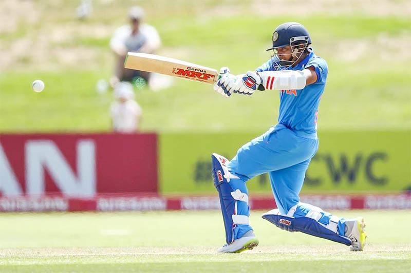 File: India's Prithvi Shaw in action. Courtesy: Facebook/Shaw