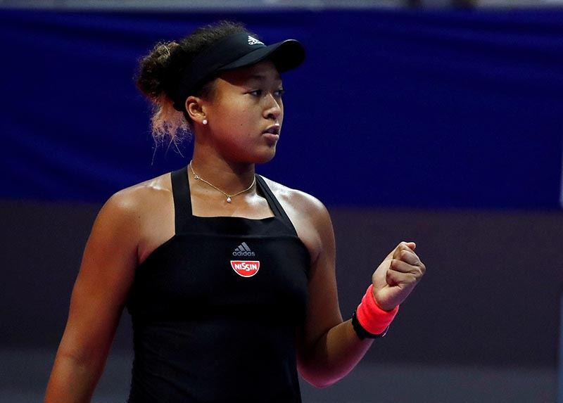 Naomi Osaka of Japan reacts during a match against Camila Giorgi of Italy during  Pan Pacific Open Women's Singles Semifinal match, at Arena Tachikawa Tachihi, in Tokyo, Japan, on September 22, 2018. Photo: Reuters/ File