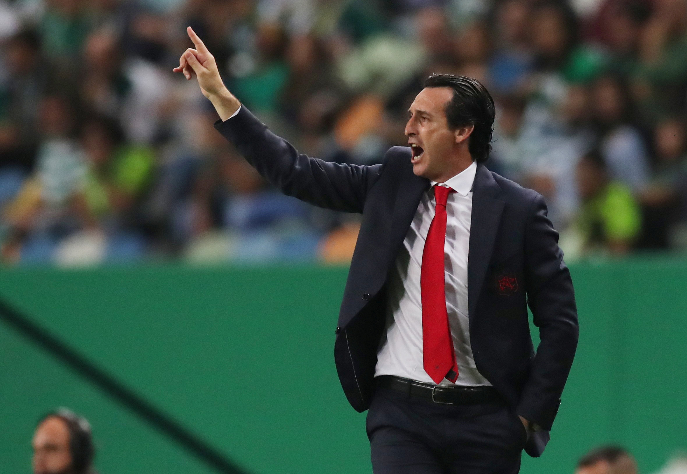 FILE: Soccer Football - Europa League - Group Stage - Group E - Sporting CP v Arsenal - Estadio Jose Alvalade, Lisbon, Portugal - October 25, 2018  Arsenal manager Unai Emery during the match.   Action Images via Reuters