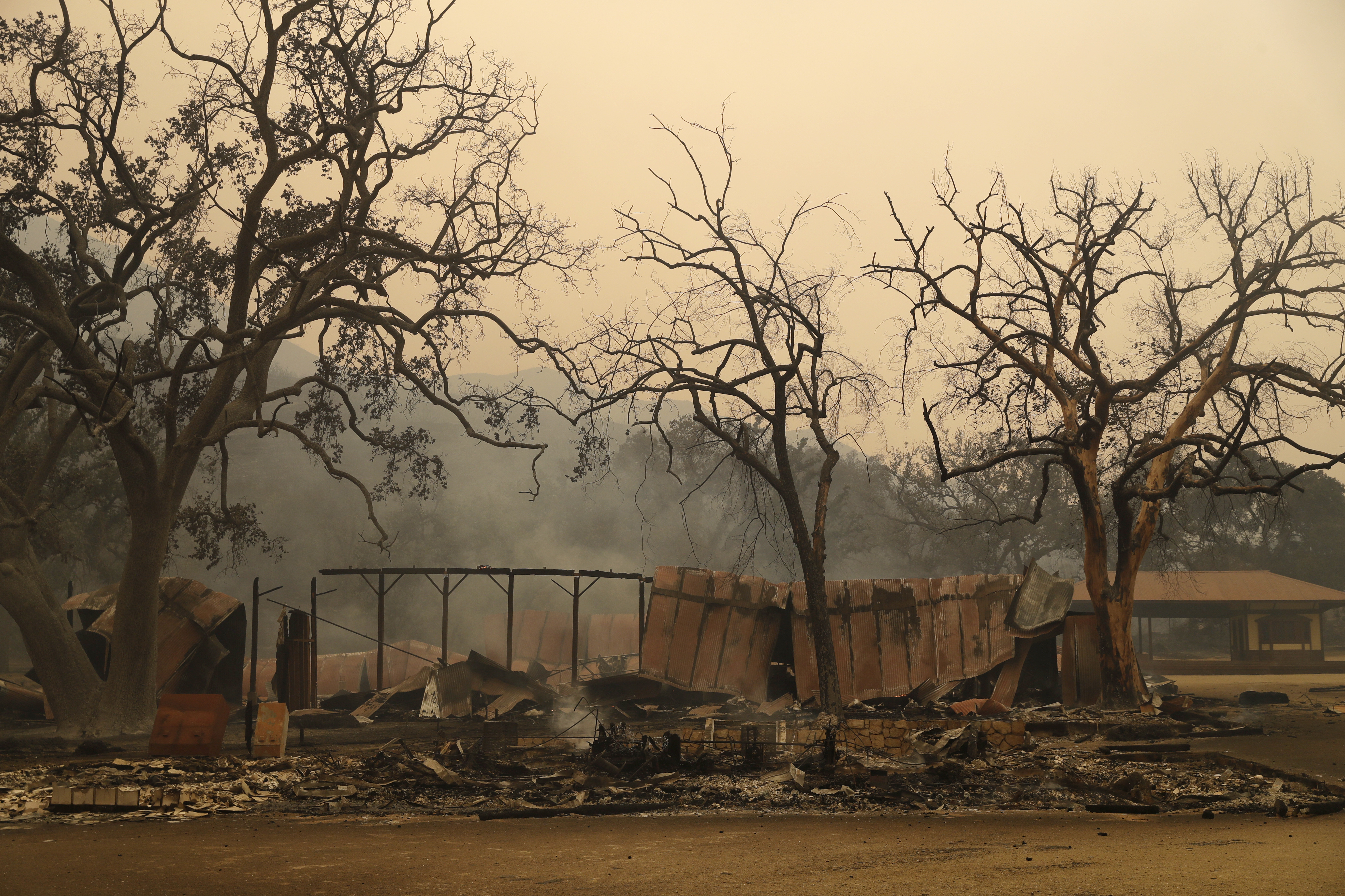 Paramount Ranch, where a number of Hollywood westerns have been filmed, is seen after it was decimated by a wildfire Friday, Nov. 9, 2018, in Agoura Hills, Calif. AP Photo