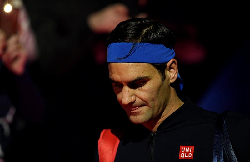 Switzerland's Roger Federer before his group stage match against Japan's Kei Nishikori during the ATP Finals, at The O2, in London, Britain, on November 11, 2018. Photo: Action Images via Reuters