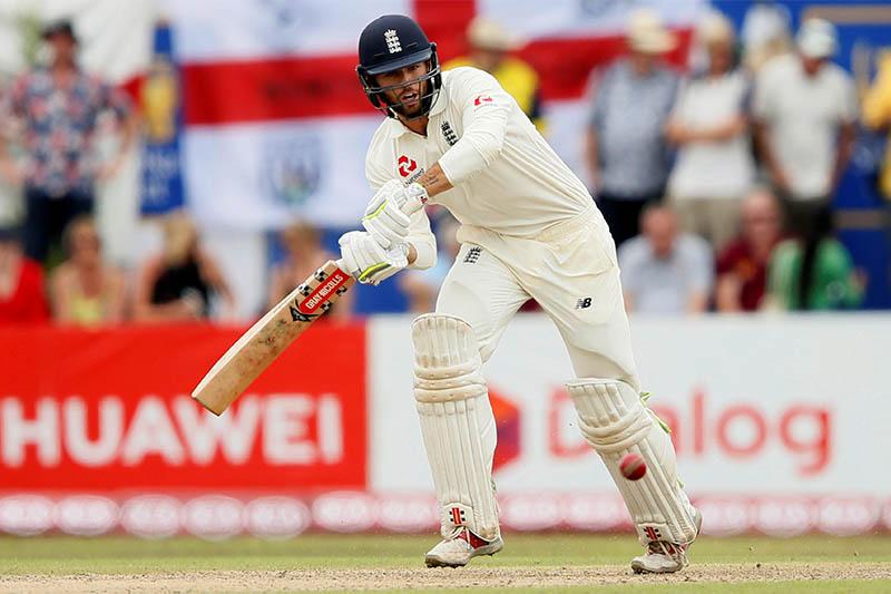 England's Ben Foakes plays a shot. Photo: Reuters