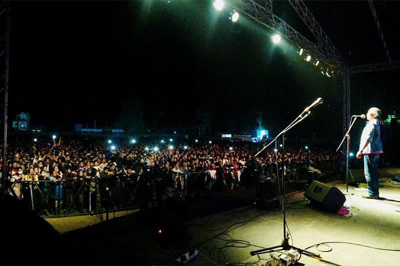 Nepathya performing in Butwal. Courtesy: Nepathya