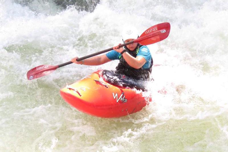 FILE: Cassandra Emary enjoying white water kayaking in far north Queensland Australia. Courtesy: Cassandra/facebook
