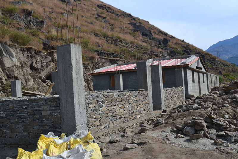 The under construction buildings of a children's home, in Tapra of Budhiganga Municipality-2, Bajura district, on Monday, November 5, 2018. Photo: Prakash Singh/THT