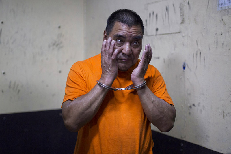 FILE - In this Aug 10, 2016 file photo, Santos Lopez Alonzo stands in a courtroom as he waits for his first hearing in Guatemala City. Photo: AP