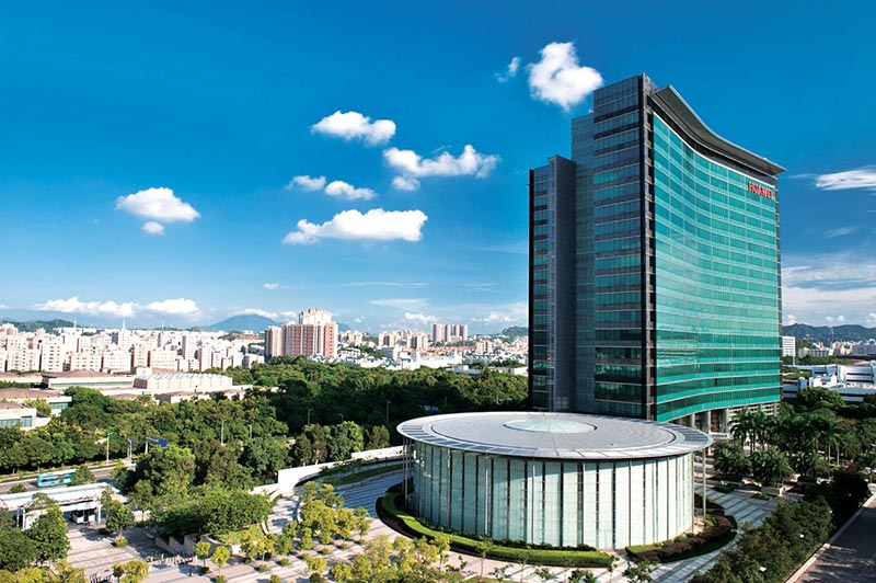 A view of the headquarters of Huawei Technologies Co, in Shenzhen, China, Photo Courtesy: Huawei Technology.co