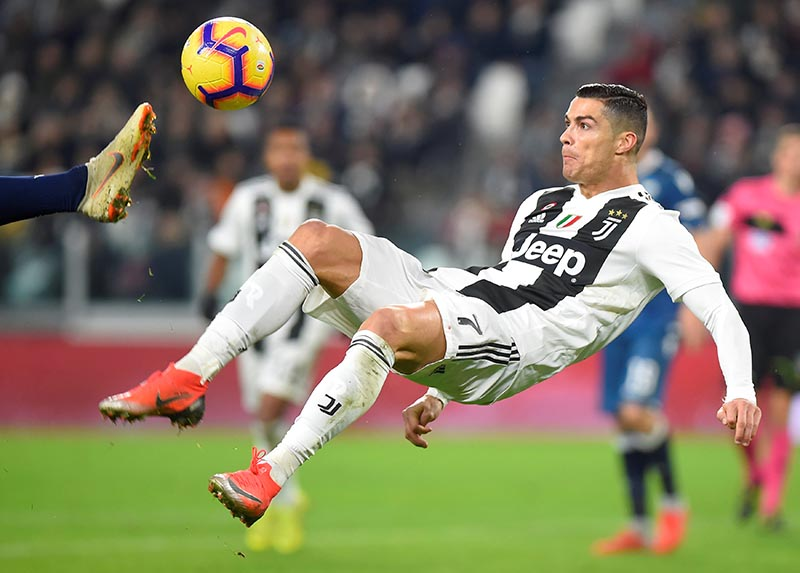 Juventus' Cristiano Ronaldo in action during the Serie A match between Juventus and SPAL, at Allianz Stadium, in Turin, Italy, on November 24, 2018. Photo: Reuters