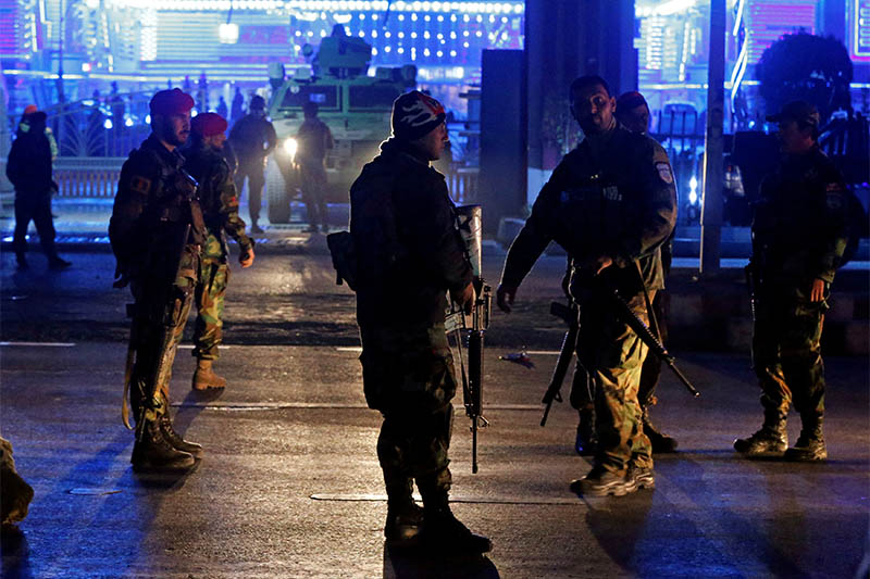 Afghan security forces arrive at the site of a suicide bomb attack in Kabul, Afghanistan November 20, 2018. Photo: Reuters