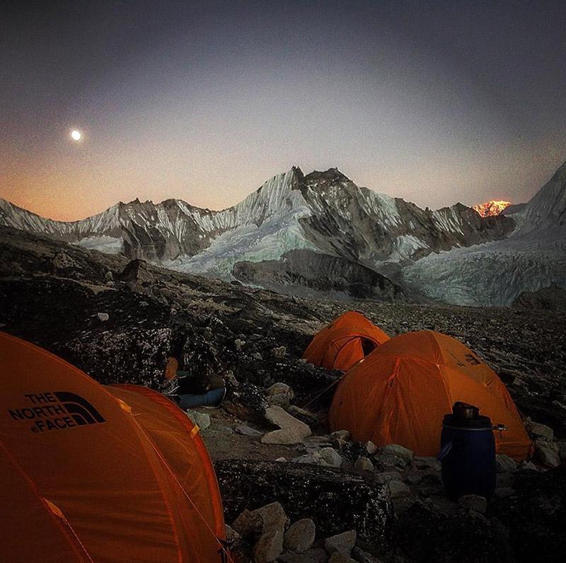 Mt Ama Dablam Base Camp. Photo: Tim Mosedale/Facebook