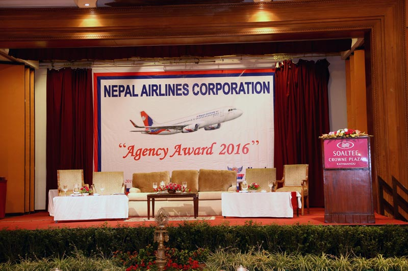 This undated image shows a function organised by Nepal Airlines Corporation, in Kathmandu. Photo: NAC