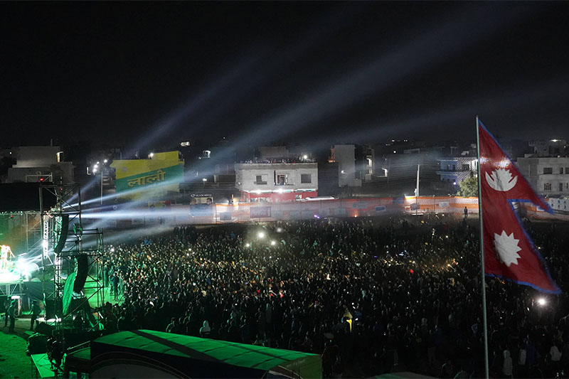 A view of Nepathya concert in Butwal. Courtesy: Nepathya