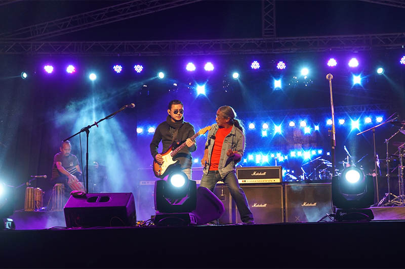 Nepathya performing live concert in Dharan on Friday, November 23, 2018. Courtesy: Nepathya