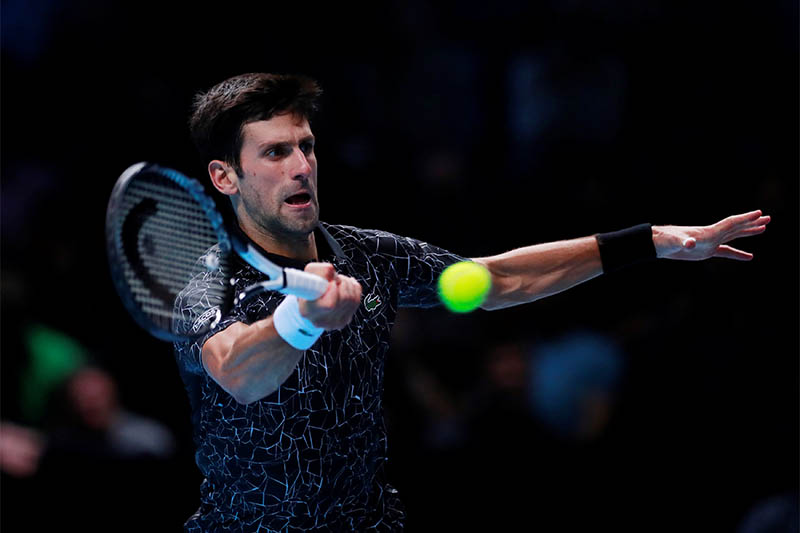 Serbia's Novak Djokovic in action during his semi final match against South Africa's Kevin Anderson. Photo: Reuters