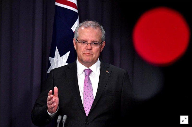 Prime Minister Scott Morrison speaks to the media during a press conference at Parliament House in Canberra, Australia, on October 16, 2018. Photo: AAP/Mick Tsikas/via Reuters