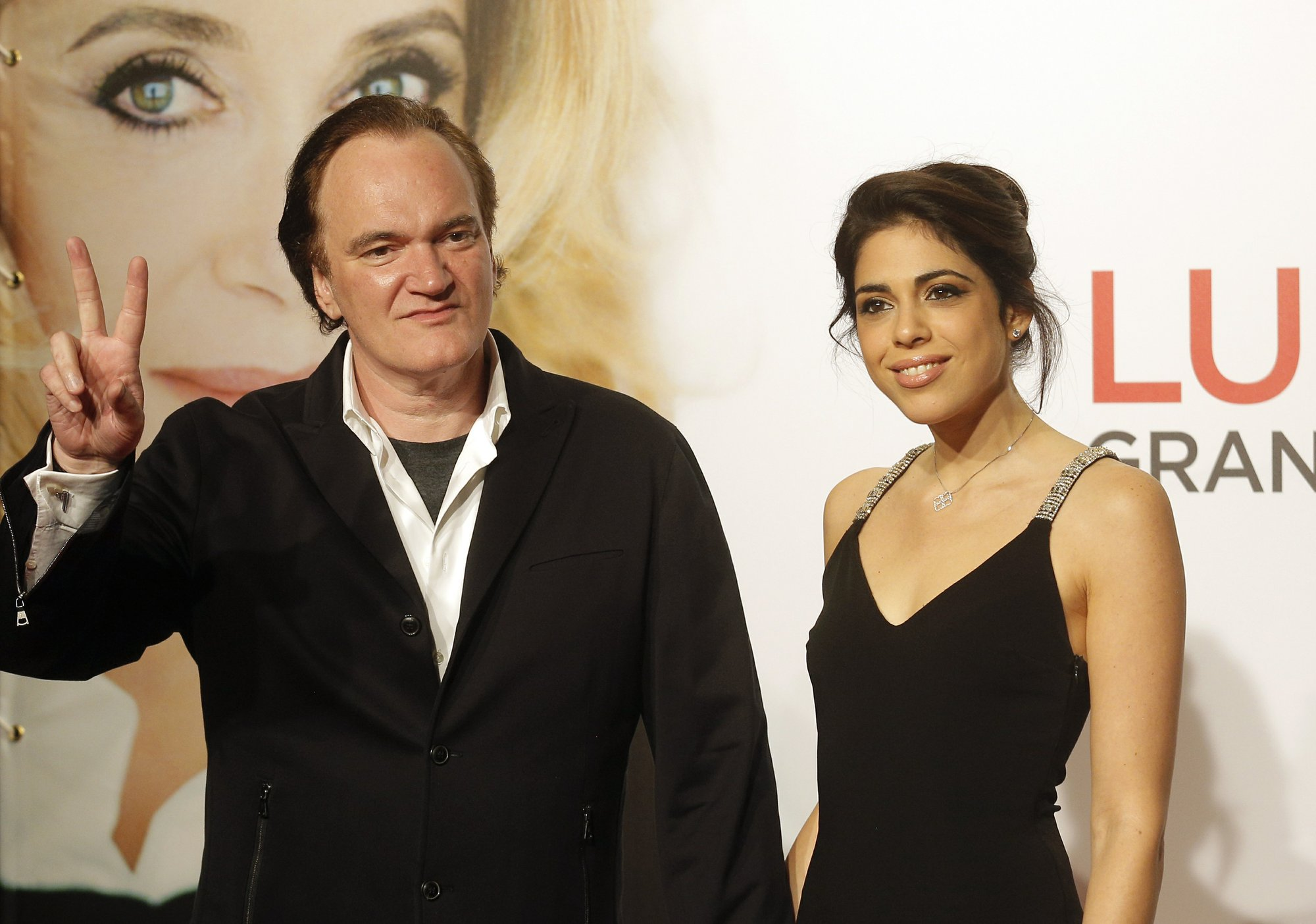 FILE - In this photo, director Quentin Tarantino, left, and singer Daniella Pick arrive at the opening ceremony of the 8th Lumiere Festival in Lyon, central France on Oct. 8, 2016. Photo: AP