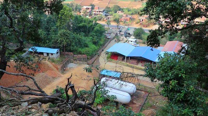 A view of Shree Maya Gas Udyog Pvt Ltd at Bishaltar, in Benighat Rorang Municipality of Dhading district, on Thursday, November 22, 2018. Photo: Keshav Adhikari/THT