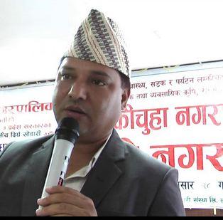 Sudurpaschim Provinceu2019s Social Development Minister Dirgha Bahadur Sodari.