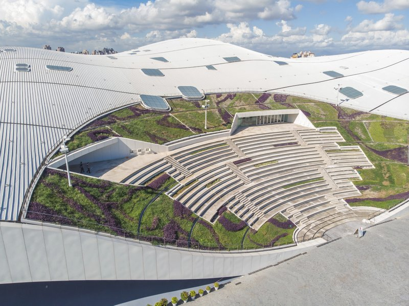 In this undated handout photo provided Nov. 5, 2018, by the National Kaohsiung Center for the Arts, the National Kaohsiung Center for the Arts designed by Dutch architect Francine Houben is seen in Kaohsiung in southern Taiwan. Photo: AP