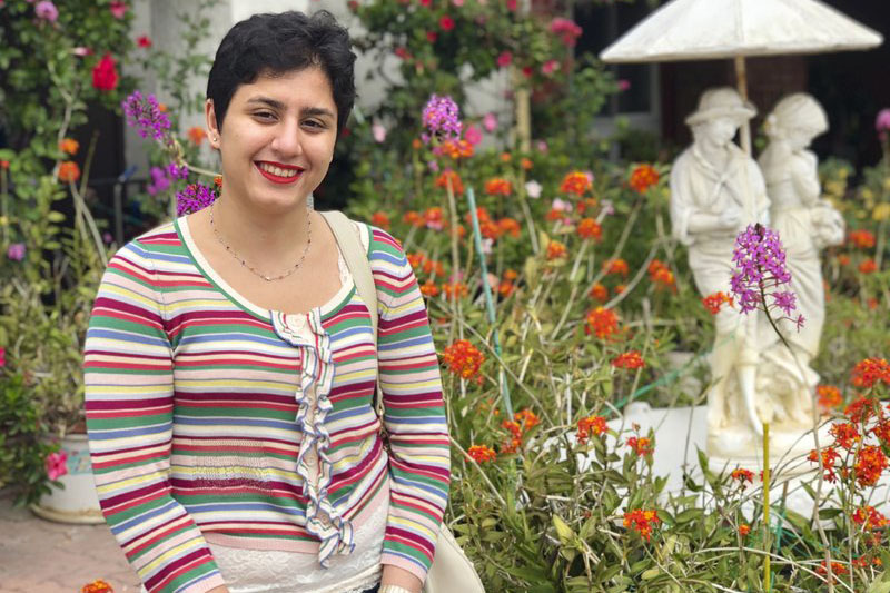 FILE: Alaleh Azhir, a 21-year old senior at Johns Hopkins University in Maryland, is among the latest crop of American Rhodes scholars, which has more women than any other single class. Courtesy: AP