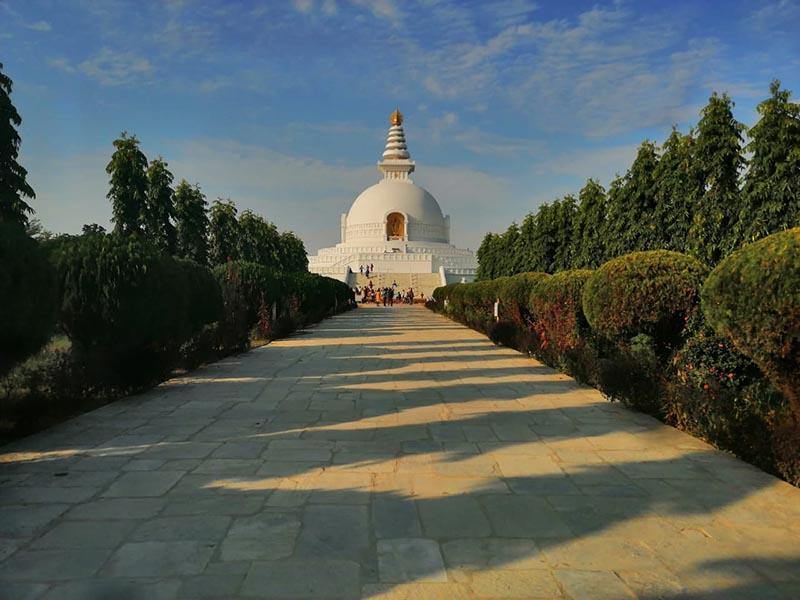 World Peace Pagado in Lumbini, as on Tuesday, October 23, 2018. Photo: Sandeep Sen/THT Online
