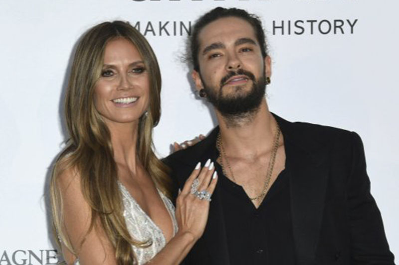 FILE: Supermodel Heidi Klum and musician Tom Kaulitz pose for photographers upon arrival at the 71st international Cannes film festival, in Cap d'Antibes, southern France. Photo: AP