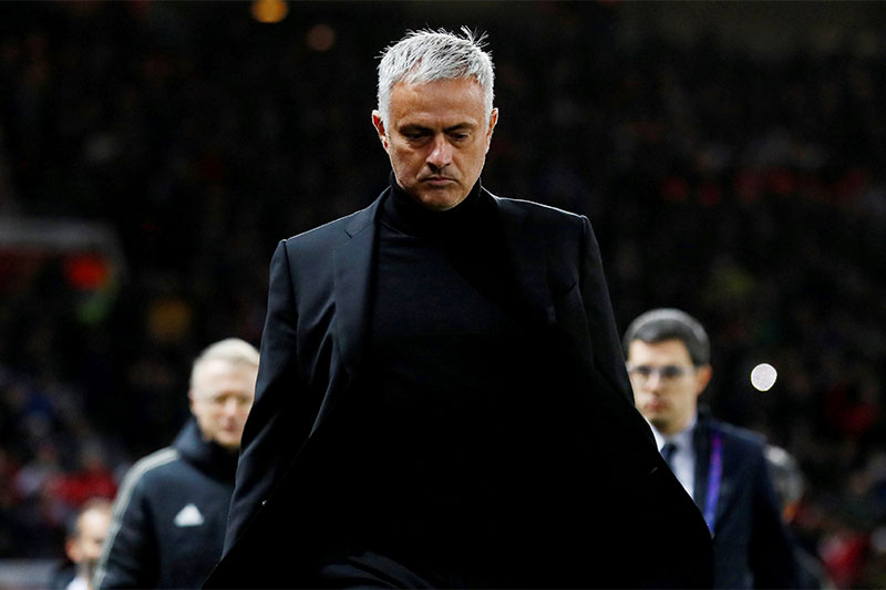 FILE: Manchester United manager Jose Mourinho before the match. Photo: Reuters