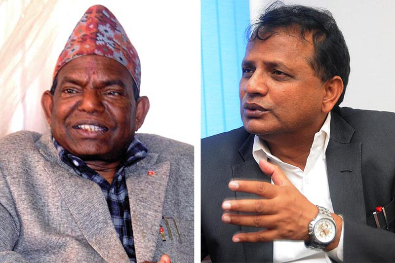This combo image shows Minister for Federal Affairs, Local Development and General Administration Lal Babu Pandit (left) and Province 2 Chief Minister Lalbabu Raut. Photo: THT