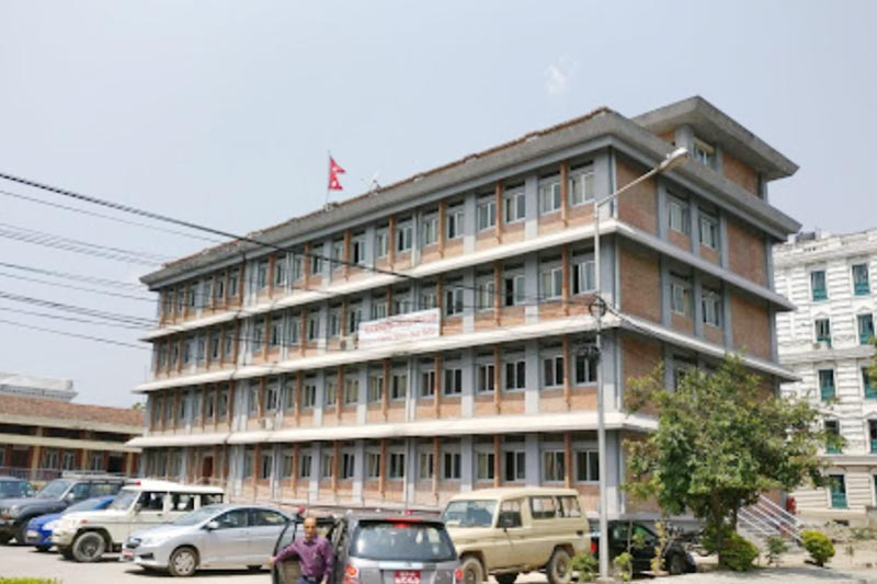 This undated image shows the building of the Ministry of Women, Children and Senior Citizens, in Singha Durbar, Kathmandu. Photo: Laxmi Gautam