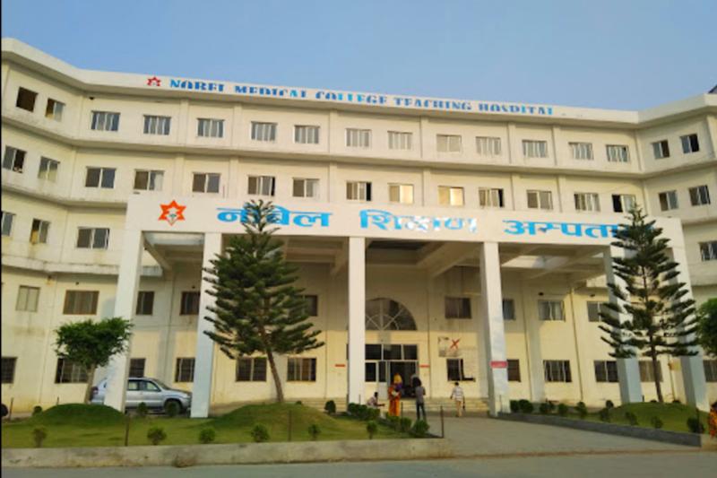 This undated image shows the building of Nobel Medical College Teaching Hospital, in Kanchanbari of Biratnagar Metropolitan City in Morang district. Photo: Milan Kharel via Google Maps