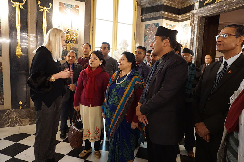 President Bidya Devi Bhandari observing various monuments of historical, archaeological and cultural importance, in Warsaw, Poland, on Monday, December 3, 2018. Photo: RSS