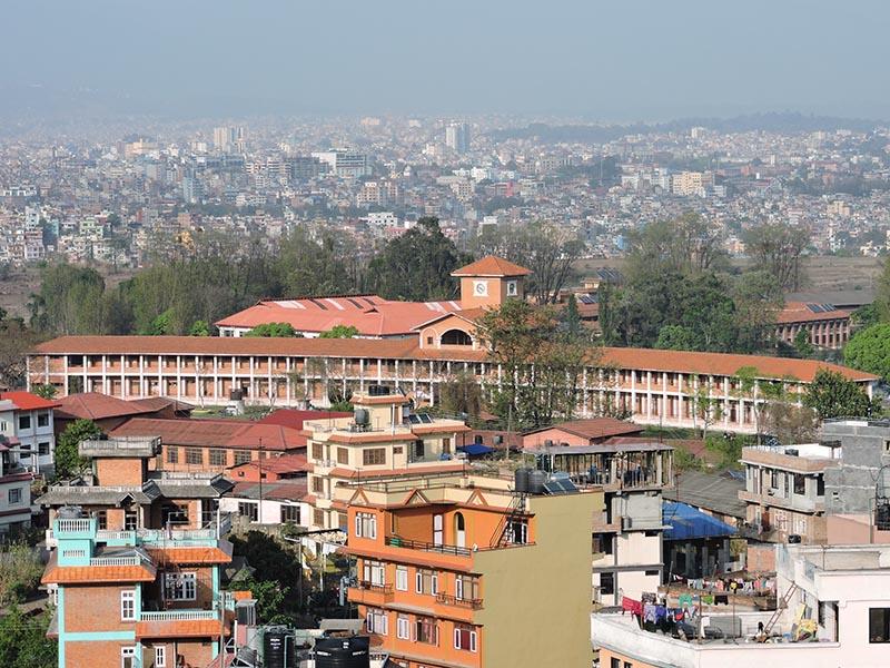 A view of Tribhuvan University in Kirtipur, Kathmandu, on Sunday, December, 2018. Photo: Sandeep Sen/ THT Online