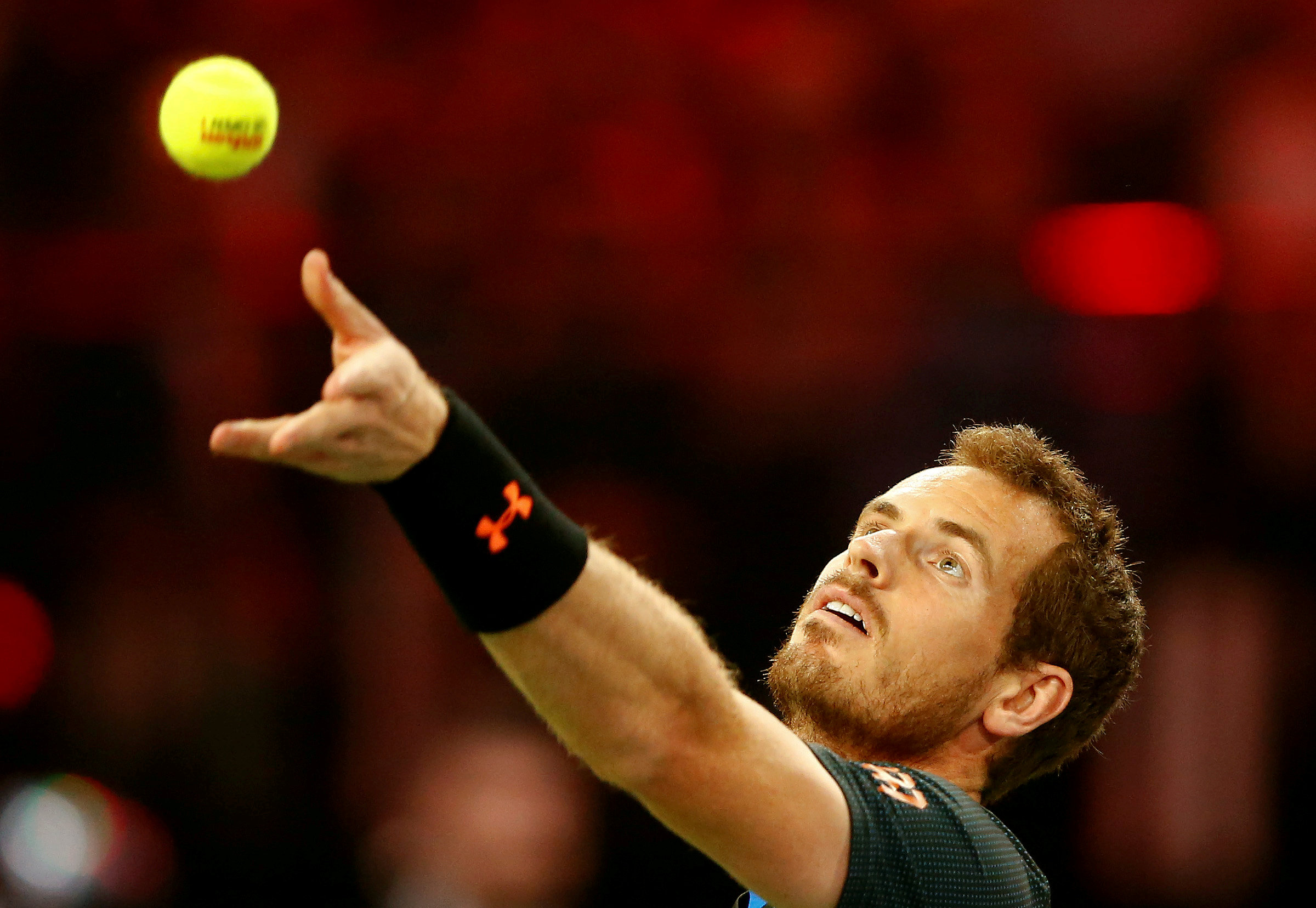 FILE PHOTO: Andy Murray of Britain serves the ball Zurich, Switzerland - 10/04/2017. REUTERS