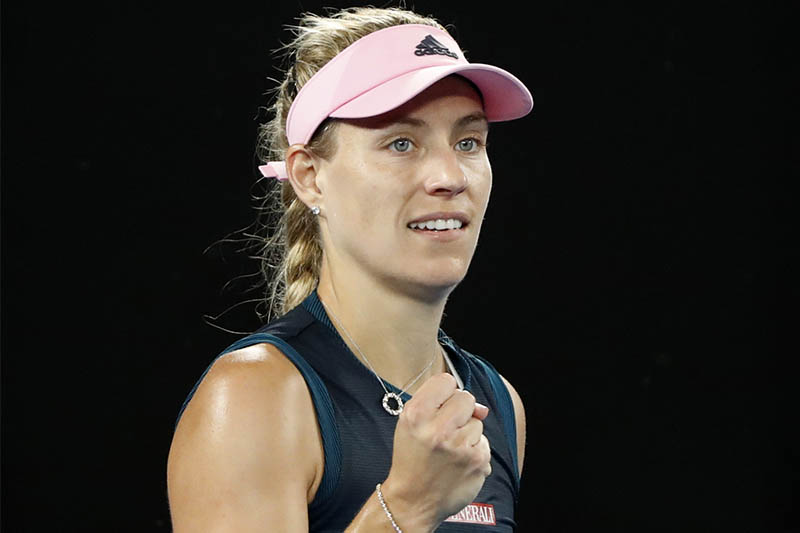 Germany's Angelique Kerber celebrates after winning the match against Australia's Kimberly Birrell. Photo: Reuters