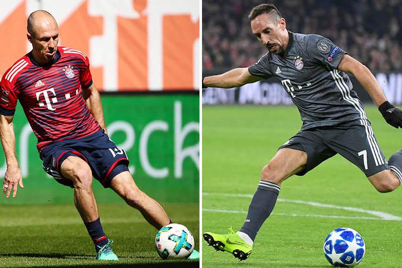 File: Bayern Munich's Arjen Robben (left) and Franck Ribery. Photos: Reuters