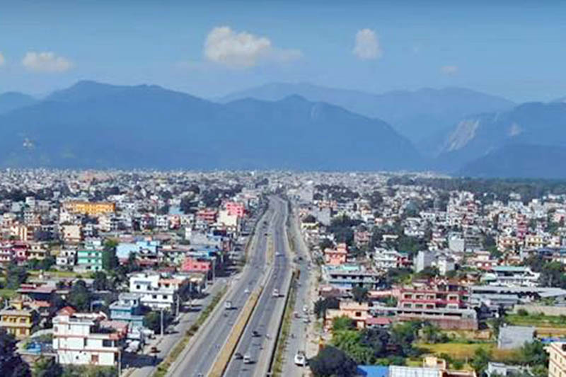 File: A view of Butwal City. Photo: THT