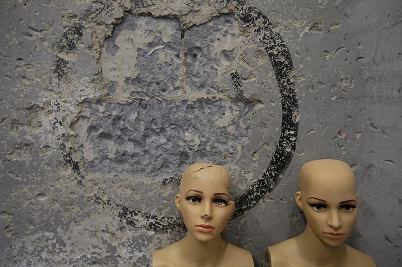Destroyed mannequins are placed at the corner of a wall in an anger room in Beijing, China January 12, 2019. Photo: Reuters