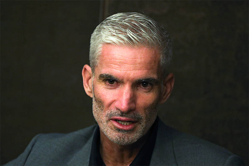 Craig Foster, former Australian football player speaks during an interview with Reuters at an hotel after visiting refugee Hakeeem Al-Araibi at Bangkok prison, Thailand, January 23, 2019. Photo: Reuters