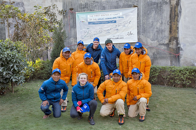 File: Members of German-Nepal Friendship Team pose for a portrait prior to embarking on the Great Himalaya Trail in Nepal. Photo: German Nepal Friendship Team--GHT Team