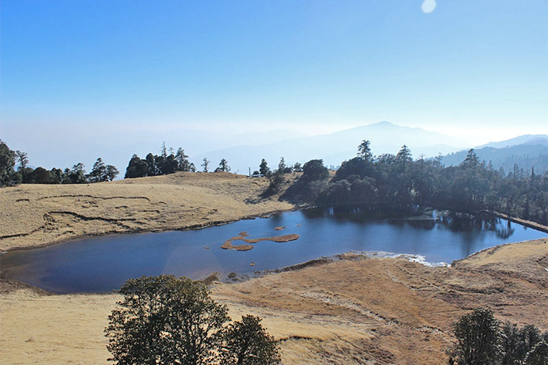 A spectacular view of Haas Pokhari at Mayung Danda, in Bhojpur district, on Wednesday, January 02, 2018. Photo: RSS