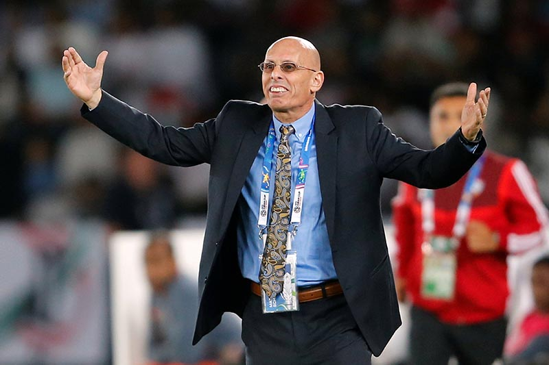 FILE -  India coach Stephen Constantine during the AFC Asian Cup  Group A match between India and United Arab Emirates, at Zayed Sports City Stadium,in Abu Dhabi, United Arab Emirates, on January 10, 2019. Photo: Reuters