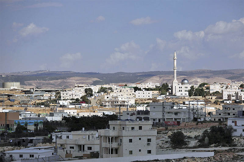 A view of Hura, a predominantly Bedouin town in the Israeli Negev desert. Photo: AP