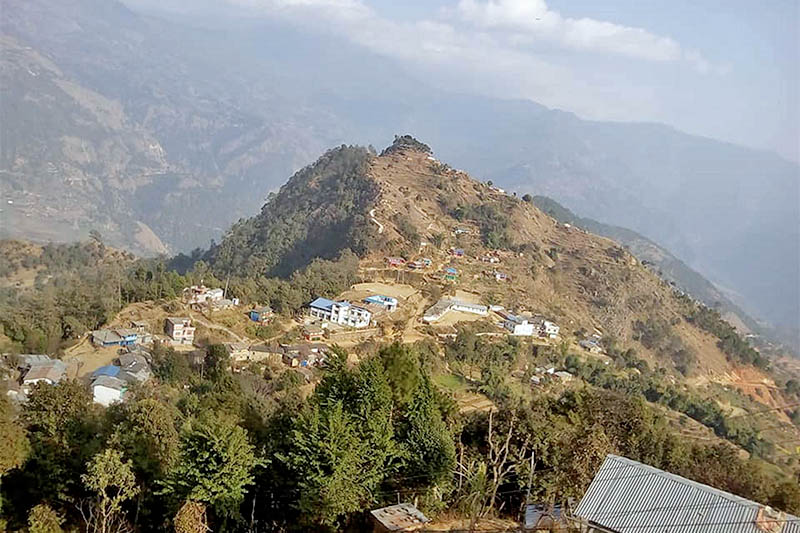 A spectacular view of historical Jyamrukkot in Beni Municipality of Myagdi district as captured on Sunday, January 06, 2018. Photo: RSS