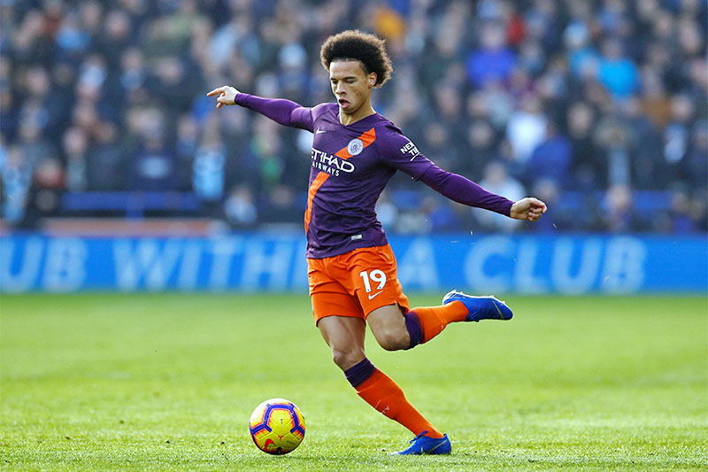 Manchester City's Leroy Sane in action. Photo: Reuters