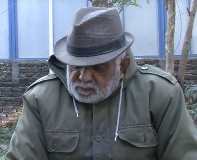 Actor Ganesh Neupane during an interview. Photo: youtube