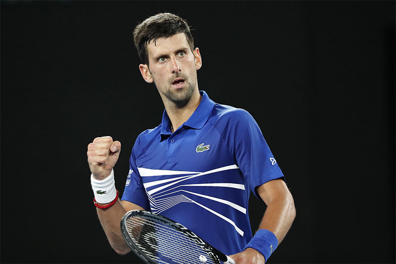 Serbia's Novak Djokovic reacts during the match against Russia's Daniil Medvedev. Photo: Reuters